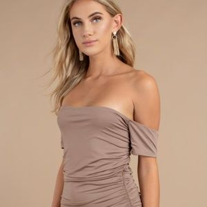 TRINA TAUPE BODYCON DRESS